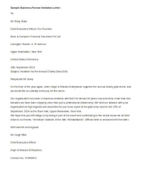 formal letter sle formal invitation letter teacheng us 32337