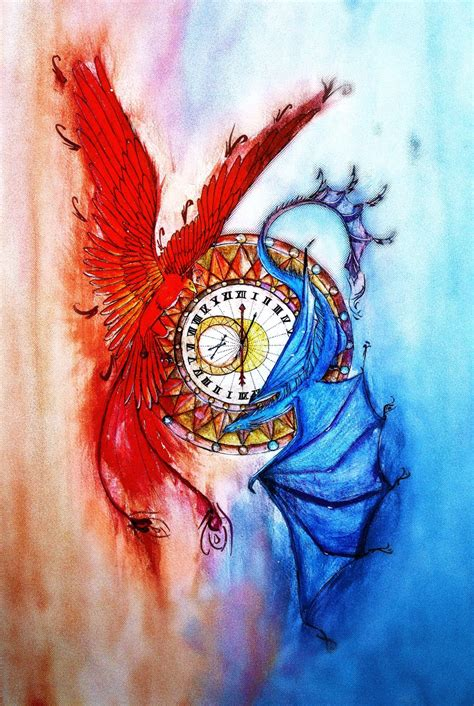 dragon  phoenix  tigerpeltraven  deviantart