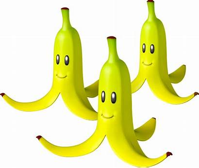 Mario Banana Kart Bananas Triple Items Peel
