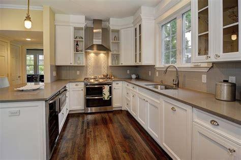 Contemporary Kitchen with PentalQuartz Canyon, Merillat