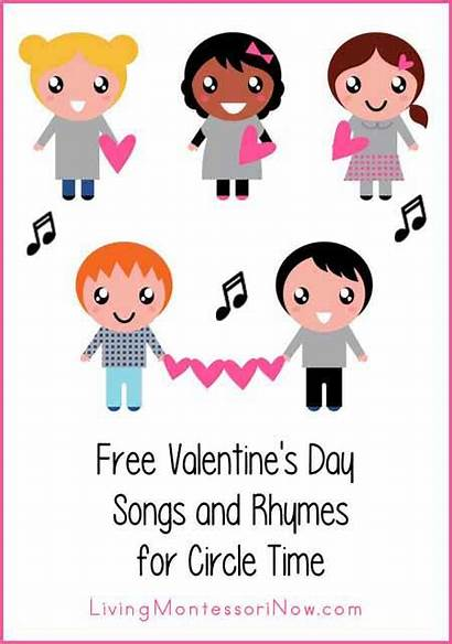 Songs Valentines Circle Rhymes Valentine Clipart Montessori