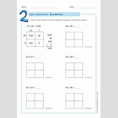 Box Method  Partial Products Multiplication Training & Pdf