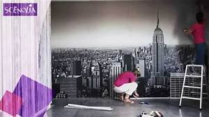 Comment Coller Du Papier Peint : pose de la toile textile panoramique en l s coller 11 ~ Dailycaller-alerts.com Idées de Décoration
