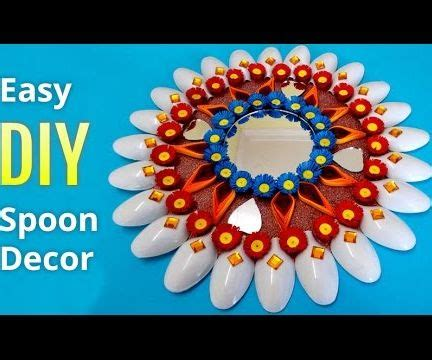 Best creative plastic spoon projects comprises of ideas to make crafts with spoons.repurpose, recycle and reuse plastic spoons into making diy projects for home and garden. Recycled DIY Projects:How to Make DIY Plastic Spoons & Mirror Wall Decor : 6 Steps (with ...