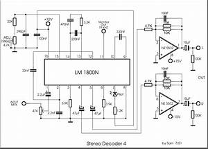 Lm1800 stereo demodulator for Stereo tv decoder circuit