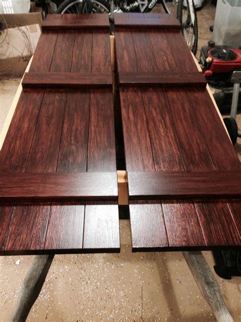 wood grain vinyl shutters faux wood grain house