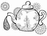 Coloring Tea Teapot Alice Wonderland Adult Printable Colouring Drawing Adults Finland Kettle Clip Getdrawings Getcolorings Perfect Template статьи источник Momsandcrafters sketch template