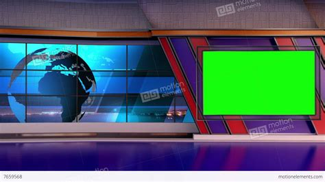News Tv Studio Set 66 Virtual Green Screen Background Loop