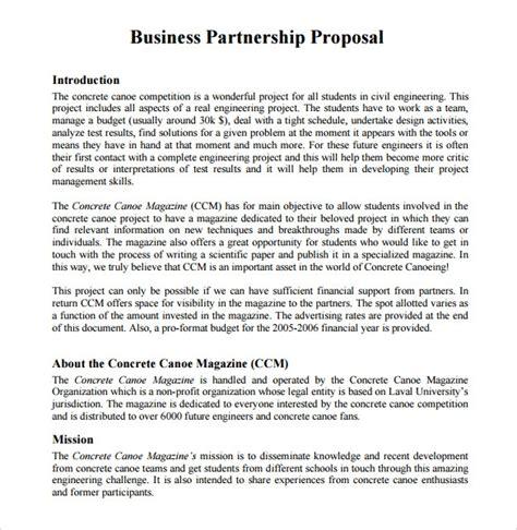 sample partnership proposal  documents