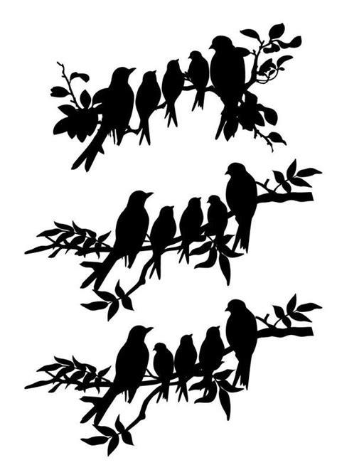 svg dxf birds family  birds   branch insrant   bird tattoos bird