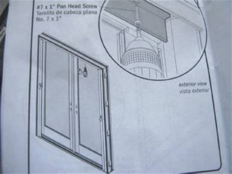 anderson retractable insect screen for double outswing