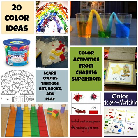 color projects for preschoolers color activities for preschoolers chasing supermom 288