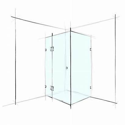 Frameless Corner Square Verotti Shower
