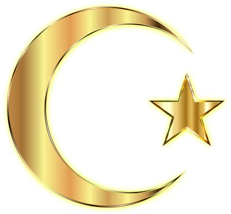 Image Without Background Clipart Golden Crescent Moon And Enhanced Without