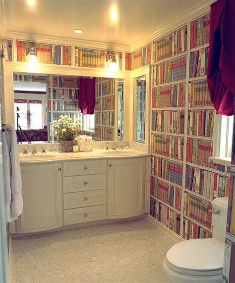 Wallpaper Bookcase Design by Bookshelf Printed Wallpaper That Lets You An