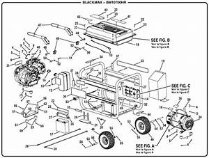 Blackmax Bm10700hr 7000 Watt Generator Parts And