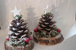 Basteln Mit Baumscheiben : weihnachtsdeko zapfentanne deko tisch ein designerst ck von die pusteblume bei dawanda ~ Watch28wear.com Haus und Dekorationen