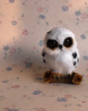 mini 10x7cm artificial owl white owl polyethylene furs handicraft props