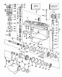 Johnson 1977 140 - 140txl77s  Gearcase