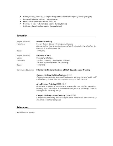 How To List Sunday School On Resume by Resume Jeffrey B Gissing