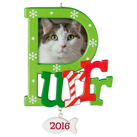 hallmark cat ornaments 2016 purr special cat photo holder hallmark keepsake ornament hooked on hallmark ornaments