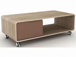 Conforama Table Basse : table basse aline coloris taupe conforama pickture ~ Teatrodelosmanantiales.com Idées de Décoration