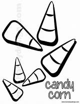 Corn Candy Coloring Halloween Sheets Sheet Printable Candycorn Printables Cute Pages Template sketch template