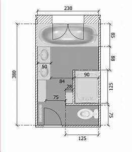 plan petite salle de bain en longueur kirafes With plan petite salle de bain en longueur