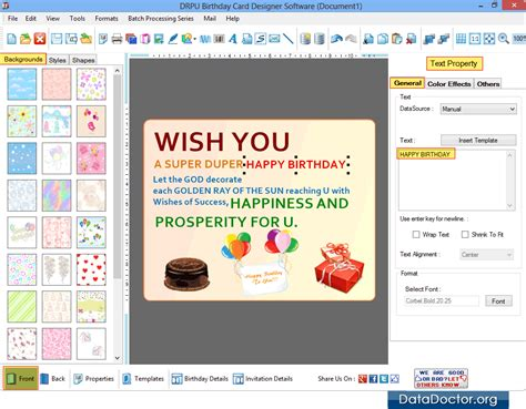 printable birthday cards designer software design