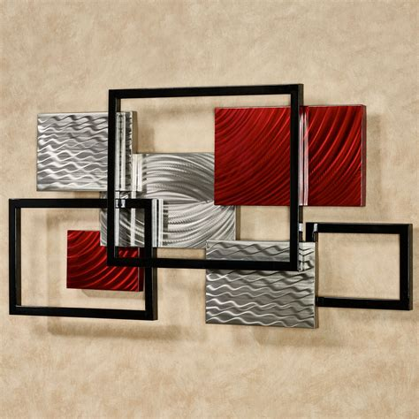 modern metal wall sculpture framed array indoor outdoor abstract metal wall sculpture