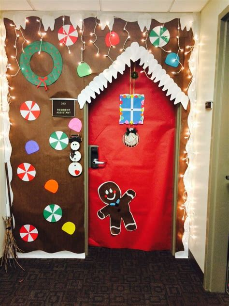 gingerbread house door decorating  school ideas