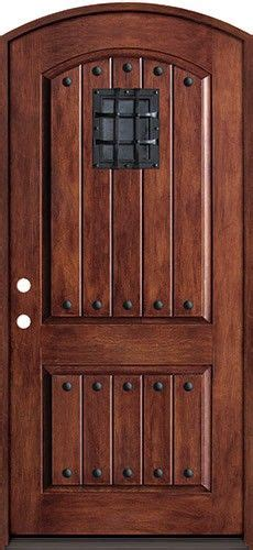 rustic fiberglass prehung arched door unit  speakeasy