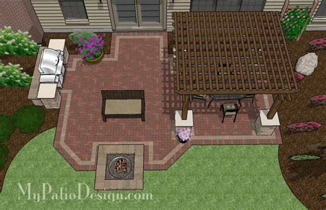 Brick Patio with Pergola Designs