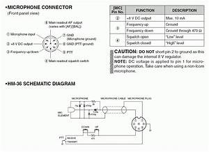 Icom Microphone Pinout And Schematic