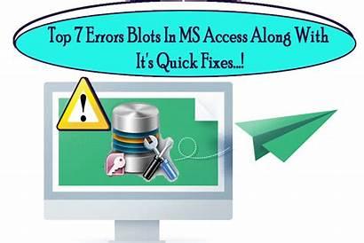 Ms Access Errors Fixes Blots Along Quick