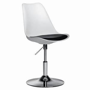 Chaise Pied Chromé : chaise de bureau blanche pied tulipe achat vente chaise blanc cdiscount ~ Teatrodelosmanantiales.com Idées de Décoration