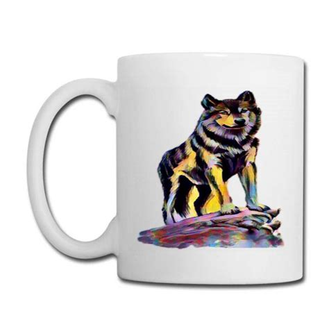 And 15 oz.) and are dishwasher and microwave. Custom The Colorful Wolf Coffee Mug By Sukhendu12 - Artistshot