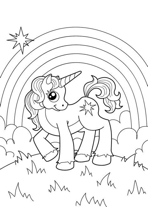 Kleurplaat Paarden Regenboog de 40 allerleukste paarden kleurplaten voor kinderen