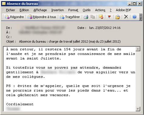 message absence bureau outlook mails d 39 absence les meilleurs messages automatiques
