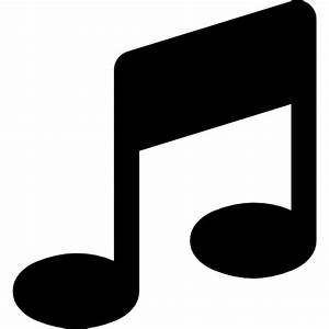 Music note black symbol - Free music icons