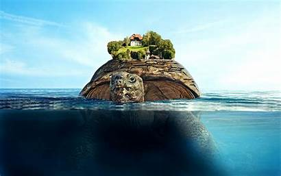 Island Floating Wallpapers Background Desktop Mac Resolution