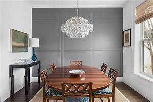 97+ [ Gray Dining Room With Accent Wall ]