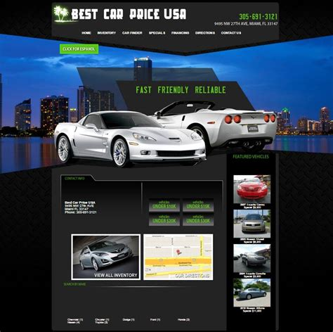New Car Websites by New Dealership Website For Best Car Price Usa Built By