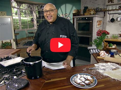 french quarter beignets  chef kevin belton cooking