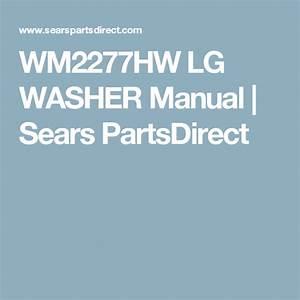 Wm2277hw Lg Washer Manual