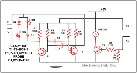 Continuity Tester With Melody Invisible Broken Wire Detector