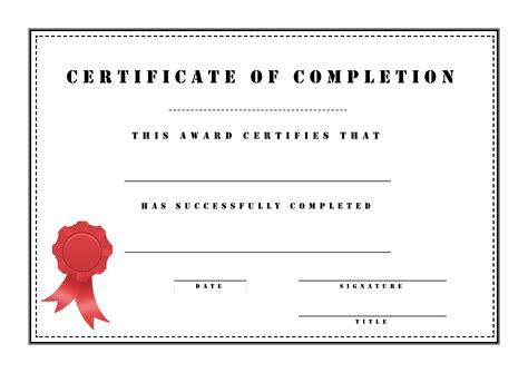 sample certificates  completion clipart images gallery