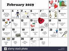 Free February 2019 Calendar with Holidays March 2019