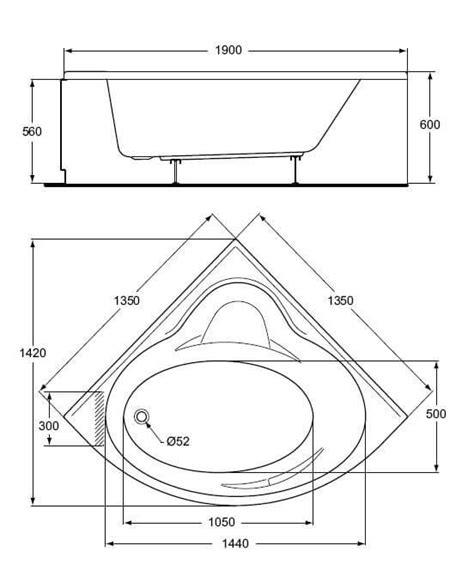 baignoire d angle 135 x 135 cm tequila avec tablier