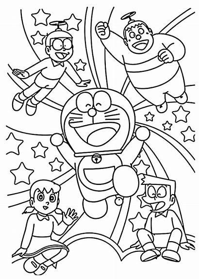 Doraemon Coloring Pages Cartoon